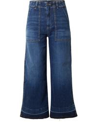 Falda pantalón azul de Veronica Beard