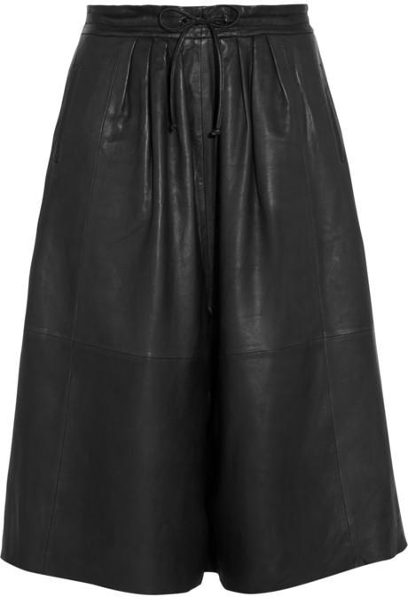 64eee967e Falda pantalón de cuero negra de Paul & Joe