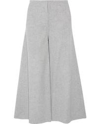 Falda pantalón de lana gris de Theory