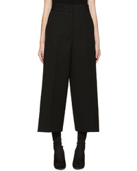 Falda pantalón de lana negra de Jil Sander