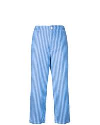 Falda pantalón de rayas verticales azul de Golden Goose Deluxe Brand
