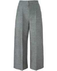 Falda pantalón de seda gris de Lanvin