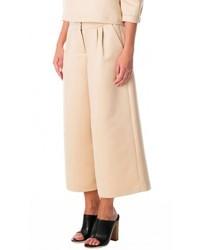 Falda pantalón en beige