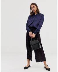Falda pantalón estampada azul marino de ASOS DESIGN