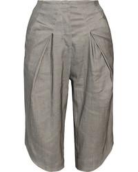Falda pantalón gris de Zero Maria Cornejo
