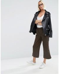 Falda Pantalón Marrón Oscuro de Asos
