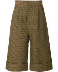Falda pantalón mostaza