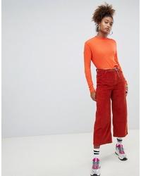 Falda pantalón naranja de Pull&Bear