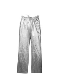 Falda pantalón plateada de MM6 MAISON MARGIELA