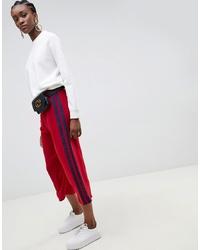 Falda pantalón roja de ASOS DESIGN