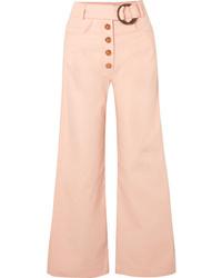 Falda pantalón rosada de Rejina Pyo