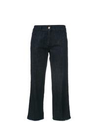 Falda pantalón vaquera azul marino de Blumarine