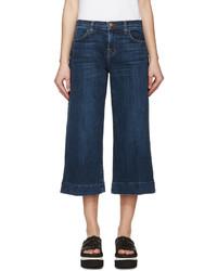 Falda pantalón vaquera azul marino de J Brand
