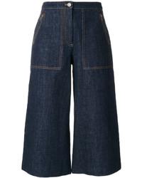 Falda pantalón vaquera azul marino de Kenzo