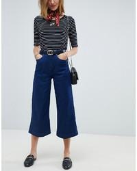 Falda pantalón vaquera azul marino de Maison Scotch