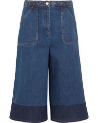 Falda pantalón vaquera azul marino de Valentino