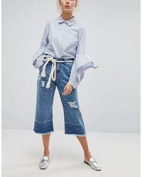 Falda pantalón vaquera azul de Current Air