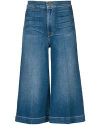 Falda pantalón vaquera azul de Frame