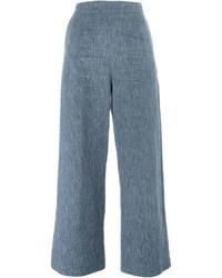 Falda pantalón vaquera azul de Isa Arfen