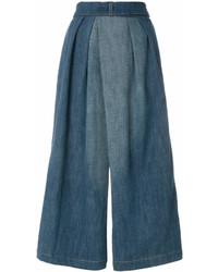 Falda pantalón vaquera azul de Loewe