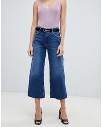 Falda pantalón vaquera azul de Mango