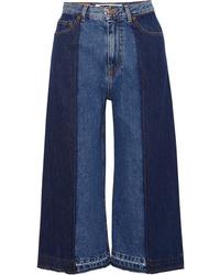 Falda pantalón vaquera azul de McQ Alexander McQueen