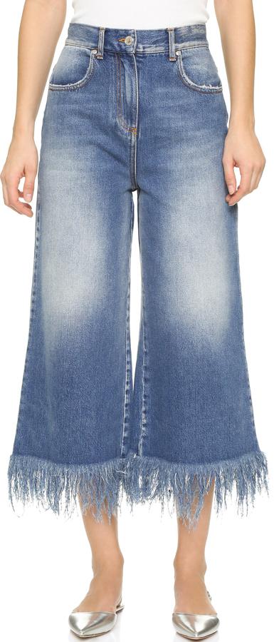 f1fad0638b ... Falda pantalón vaquera azul de MSGM ...