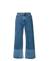 Falda pantalón vaquera azul de Simon Miller