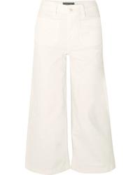 Falda pantalón vaquera blanca de J.Crew