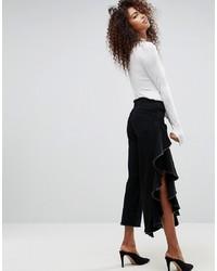 Falda pantalón vaquera negra de ASOS DESIGN
