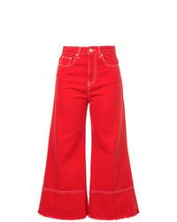 Falda pantalón vaquera roja