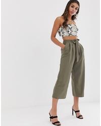 Falda pantalón verde oliva de ASOS DESIGN