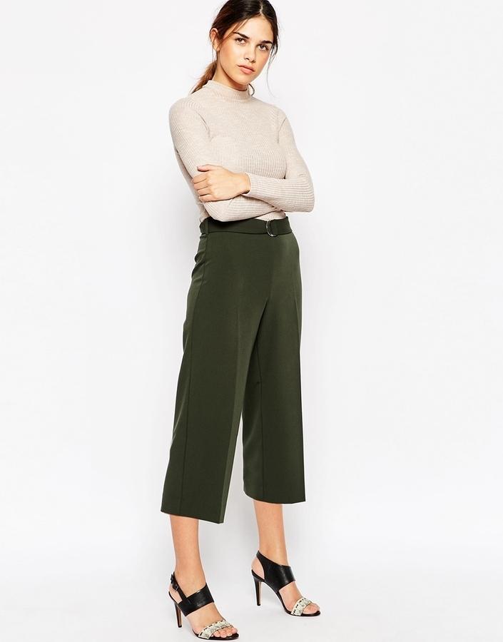 3d3491807 Falda pantalón verde oliva de Asos
