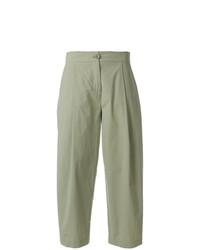 Falda pantalón verde oliva de Erika Cavallini