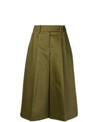 Falda pantalón verde oliva de Jil Sander Navy