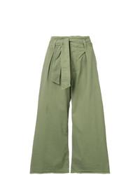 Falda pantalón verde oliva de Nili Lotan