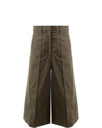 Falda pantalón verde oliva de Rokh