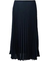 Falda plisada azul marino de Vince