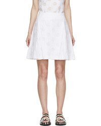 Falda plisada blanca de Kenzo