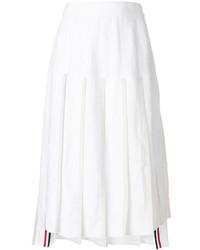 Falda plisada blanca de Thom Browne