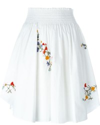 Falda plisada blanca de Tory Burch