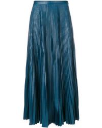 Falda plisada en verde azulado de Golden Goose Deluxe Brand