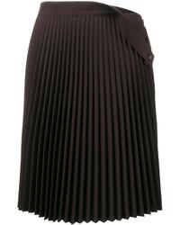 Falda plisada negra de Balenciaga