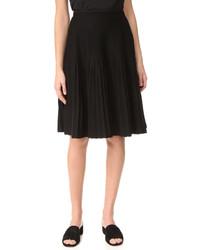 Falda plisada negra de Salvatore Ferragamo