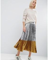 6cdaebf58 Comprar una falda plisada plateada de Asos: elegir faldas plisadas ...