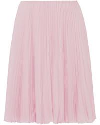 Falda plisada rosada de Prada