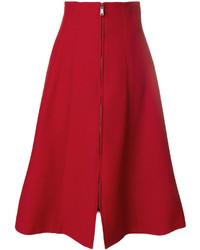 Falda roja de Fendi