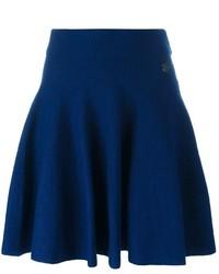 Falda skater de lana azul marino de Kenzo