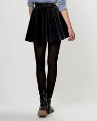 3b32914511051 falda terciopelo negra