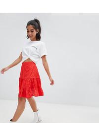 Falda skater roja de Asos Petite